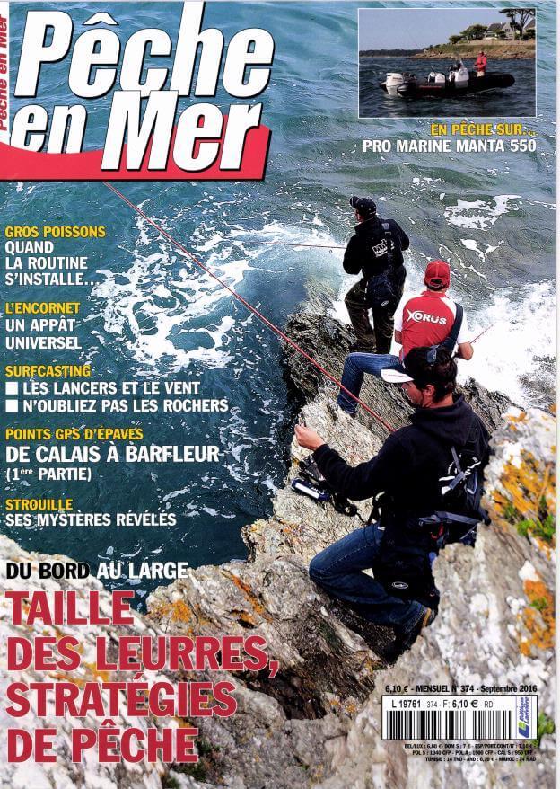 FishFriender dans Peche En Mer n°374 - Septembre 2016 et N°378 - Janvier 2017